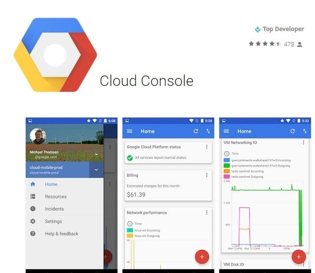 Google Cloud Console App - monitor your Cloud Apps on mobile easliy