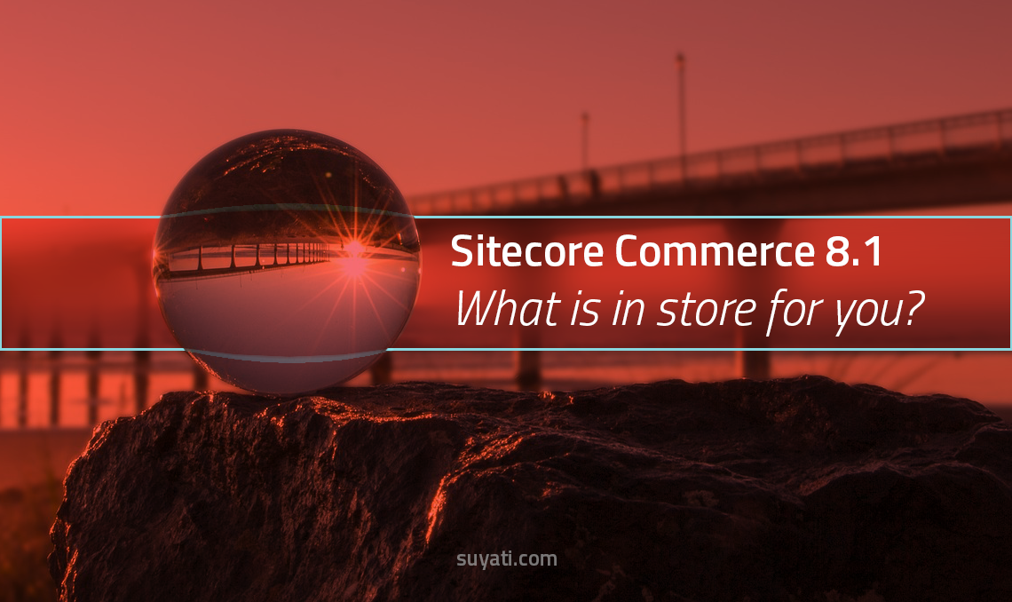 Sitecore Commerce 8.1 What is in store for you