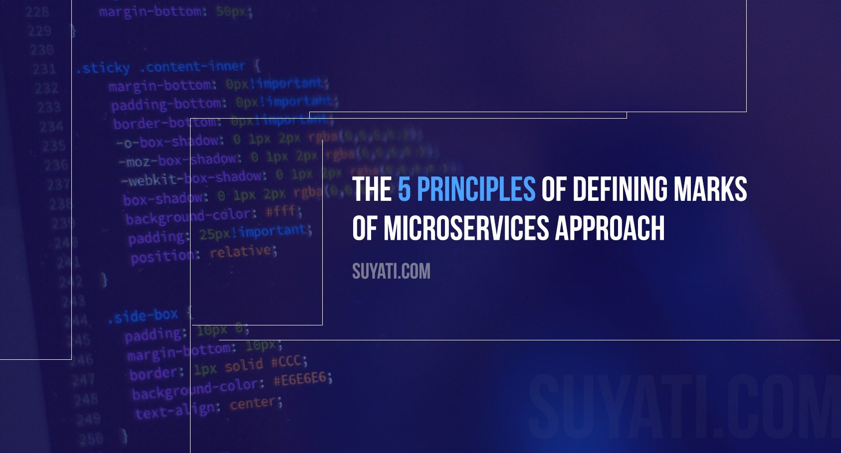 What are the defining marks of microservices approach