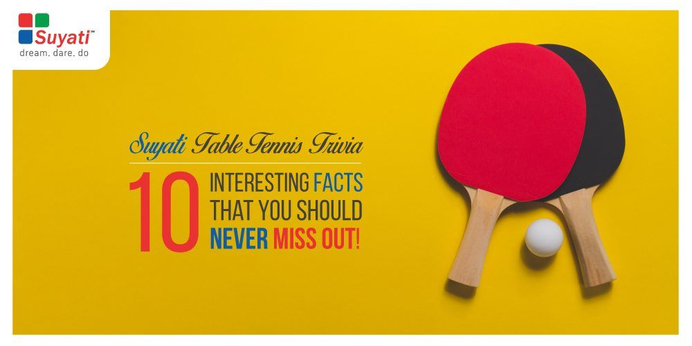 Suyati Table Tennis Trivia: 10 interesting facts we bet you don't know!