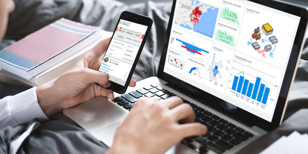 How can business boost productivity using Dynamics 365 Mobile?